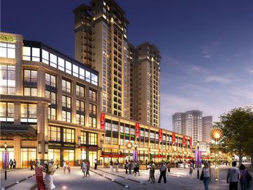 项目商业街区效果图