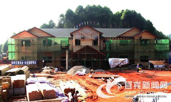 建设中的和丰村党群服务中心及樟海游客服务中心。