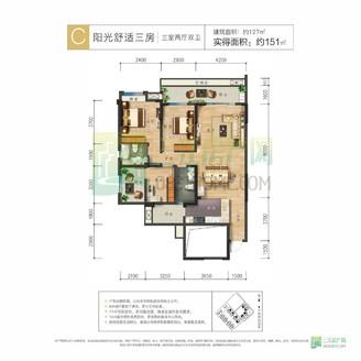 锦绣龙城正中庭位置,大4房