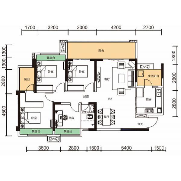 B2 四室两厅两卫