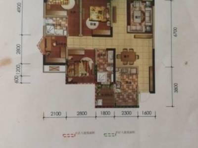 出售臨港中央4室2廳2衛134平米108萬住宅