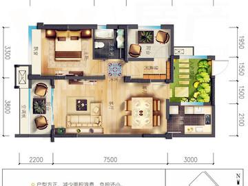 A戶型|花園兩居|兩室兩廳一衛