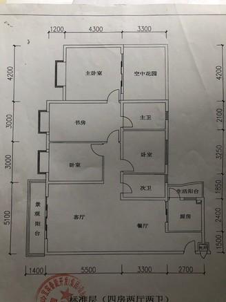 出售山水庭院4室2厅2卫150.53平米115万住宅