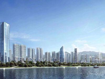 临港央企开发一线江景房 两梯四户龙湖物业 正临江超多户型选择