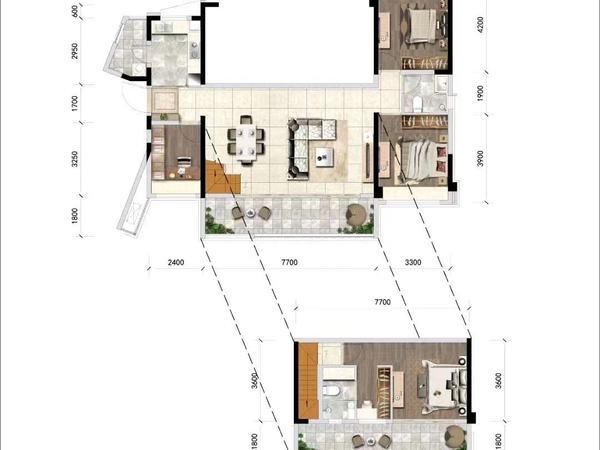 出售领地 观江府3室1厅2卫89平米75万住宅